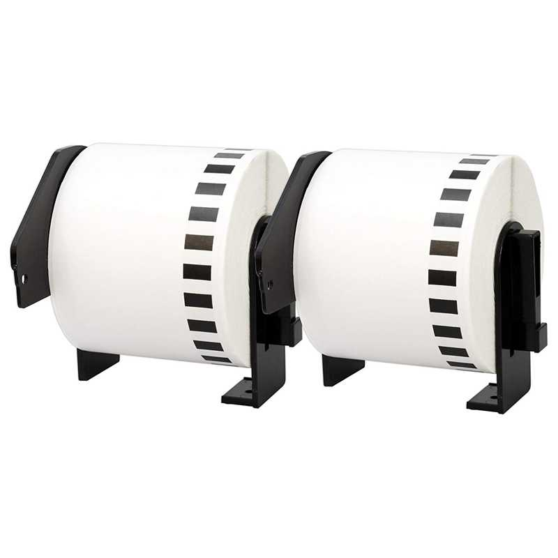 5X untuk Brother DK-22205 Printer Label 62Mm Roll + Spul untuk QL-560 QL-570