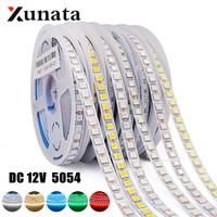 Taśma LED 5m DC 12V 5054 5050 IP21 IP65 IP67 wodoodporna 60 120 leds/m naturalna biel/lodowy blękit/czerwona/zielona elastyczna taśma lampa światła