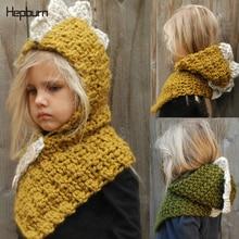 Hepburn Brand Hand Coarse Knitted Children Hats Kids Baby Girl/Boy Winter Soft Warm Wool Cotton Beanie for 2-12 years old