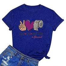 Kancoold Top T-shirt Women's Harajuku Leopard Peaces Love Toilet Paper T-shirt Short Sleeve Funny Love Life Top Women 2020apr21(China)
