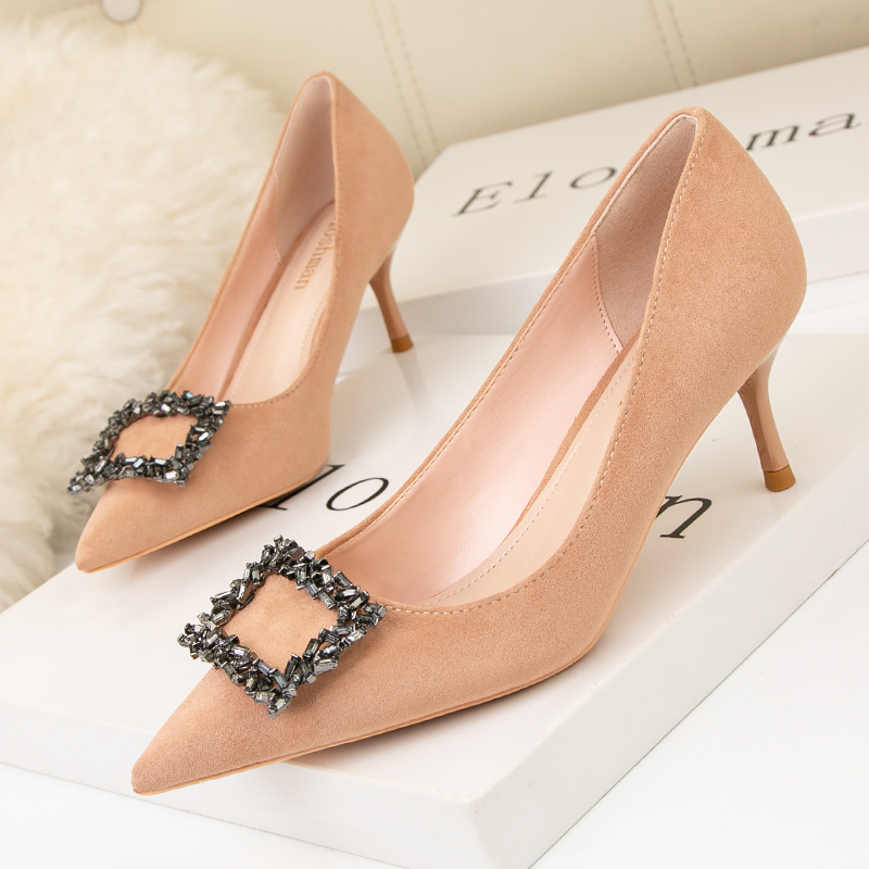 Details about  /New Women/'s Pointy Toe Rhinestones Suede Stilettos High Heels Party Shoes Size