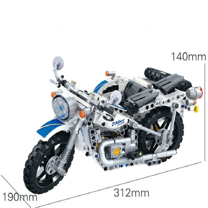 Image 5 - 550Pcs Technic Motorcycle Police Building Bricks Blocks Sidecar Motorcross Model Gift Compatible Technic Car Toys-in Blocks from Toys & Hobbies