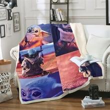 custom diy print warm christmas blankets 150x200cm merry christmas blanket flannel fabric sofa bed blanket home decor blanket Star Wars Baby Yoda Blanket Design Flannel Fleece Blanket  Printed Sofa Warm Bed Throw Blanket Adult  Blanket style-1