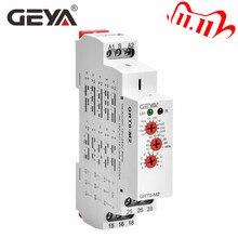 GEYA GRT8 M רב פונקציה דין רכבת אוטומטי טיימר ממסר AC DC 12V 24V 220V SPDT DPDT תכליתי זמן ממסר