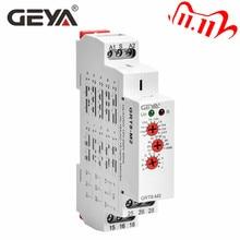 GEYA GRT8 M wielofunkcyjny automatyczny przekaźnik czasowy na szynę Din AC DC 12V 24V 220V SPDT DPDT wielofunkcyjny przekaźnik czasowy