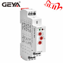 GEYA relais à minuterie automatique multifonction sur Rail Din, GRT8 M AC DC 12V 24V 220V, SPDT DPDT
