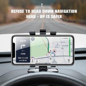 Image 2 - Yeni çok fonksiyonlu araba telefon tutucu evrensel rotasyon yaratıcılık evrensel araç içi telefon tutucu ile bir gizli dur işareti araba aksesuarları