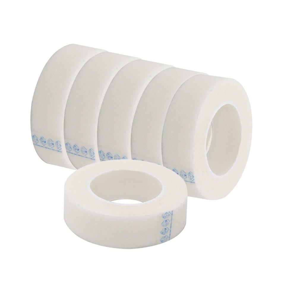 4/6Rolls Of Eyelash Lash Extension Supply Micropore Paper Medical Tape Eyelash Extension Lint Free Eye Pads White Tape(White)