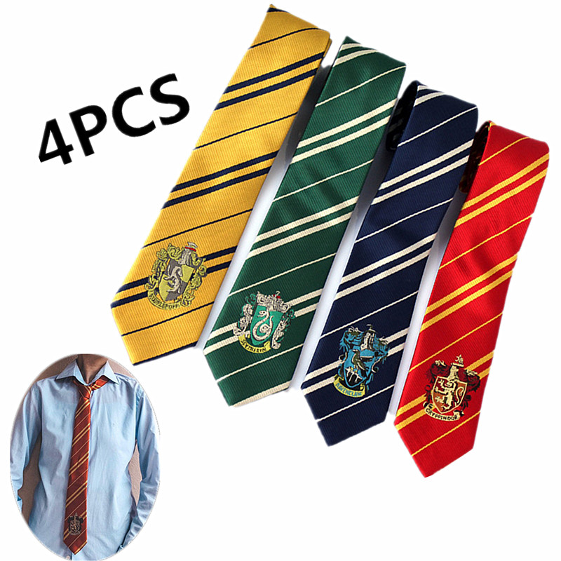 4Pcs Child&Adults Gryffindor Slytherin Potter Tie College Style Scarf / Gloves / Hat Cosplay Halloween Party Gifts Prom Carnival