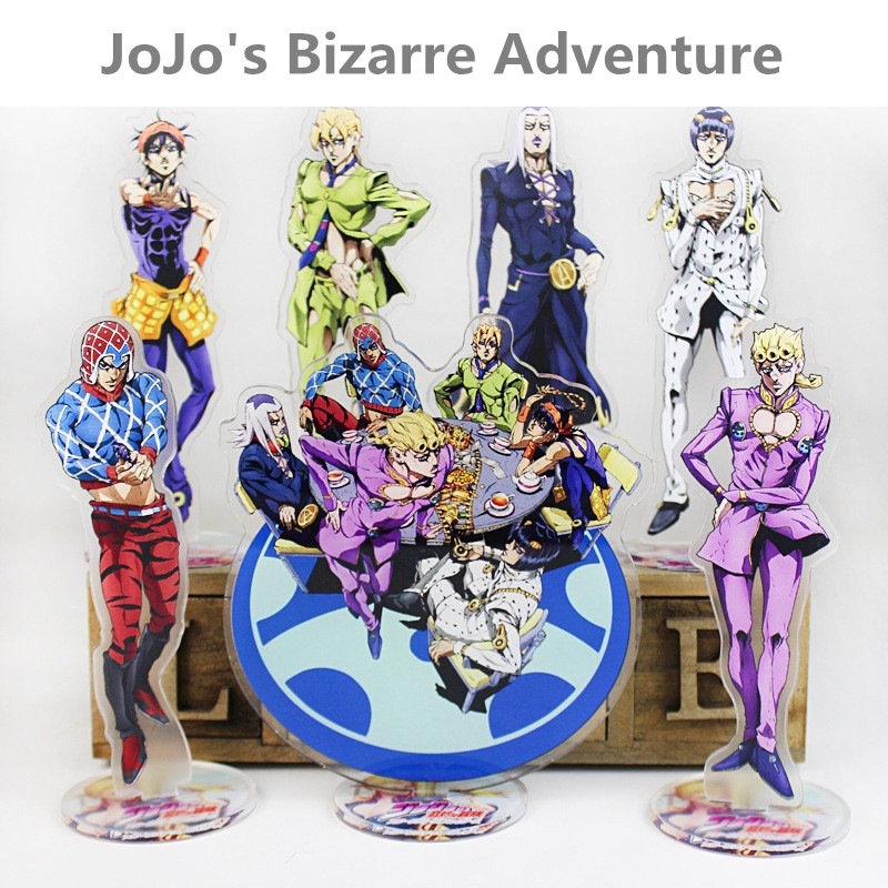 16CM Japanese Anime JoJo's Bizarre Adventure Acrylic Stands Figure Model Plate Holder Anime Around Fans Gift