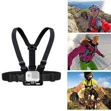 цена на Chest Strap mount belt for Gopro hero 7 6 5 Xiaomi yi 4K Action camera Chest Mount Harness for GoPro SJCAM SJ4000 sport cam fix