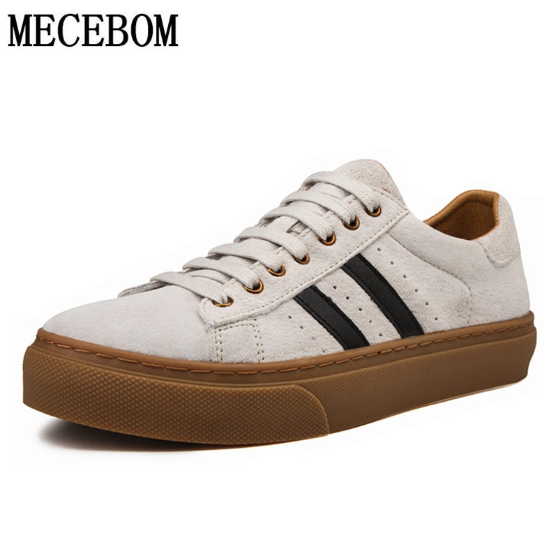 Men's Casual Shoes Leisure Pig Suede Leather Shoes For Male Adult Lace-up Comfortable Mens Shoes Sneakers 1199m