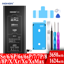 Nohon Battery For Apple iPhone 6s 6 7 8 Plus SE X Xr Xs Max 6sPlus 6sP 6P 7P 7Plus 8P iPhoneSE 1624mAh-3650mAh Batteries +Tools cheap 2801mAh-3500mAh Compatible MSDS ROHS Apple iPhones Iphone 6S Plus NOHON Battery For Apple iPhone 6S Plus Max Capacity Bateria With Tools