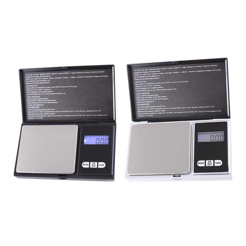 مقياس مجوهرات محمول عالي الدقة 100/200/300/500/1000g 0.01/0.1g مقياس الجيب الصغير للوزن للمجوهرات للمطبخ