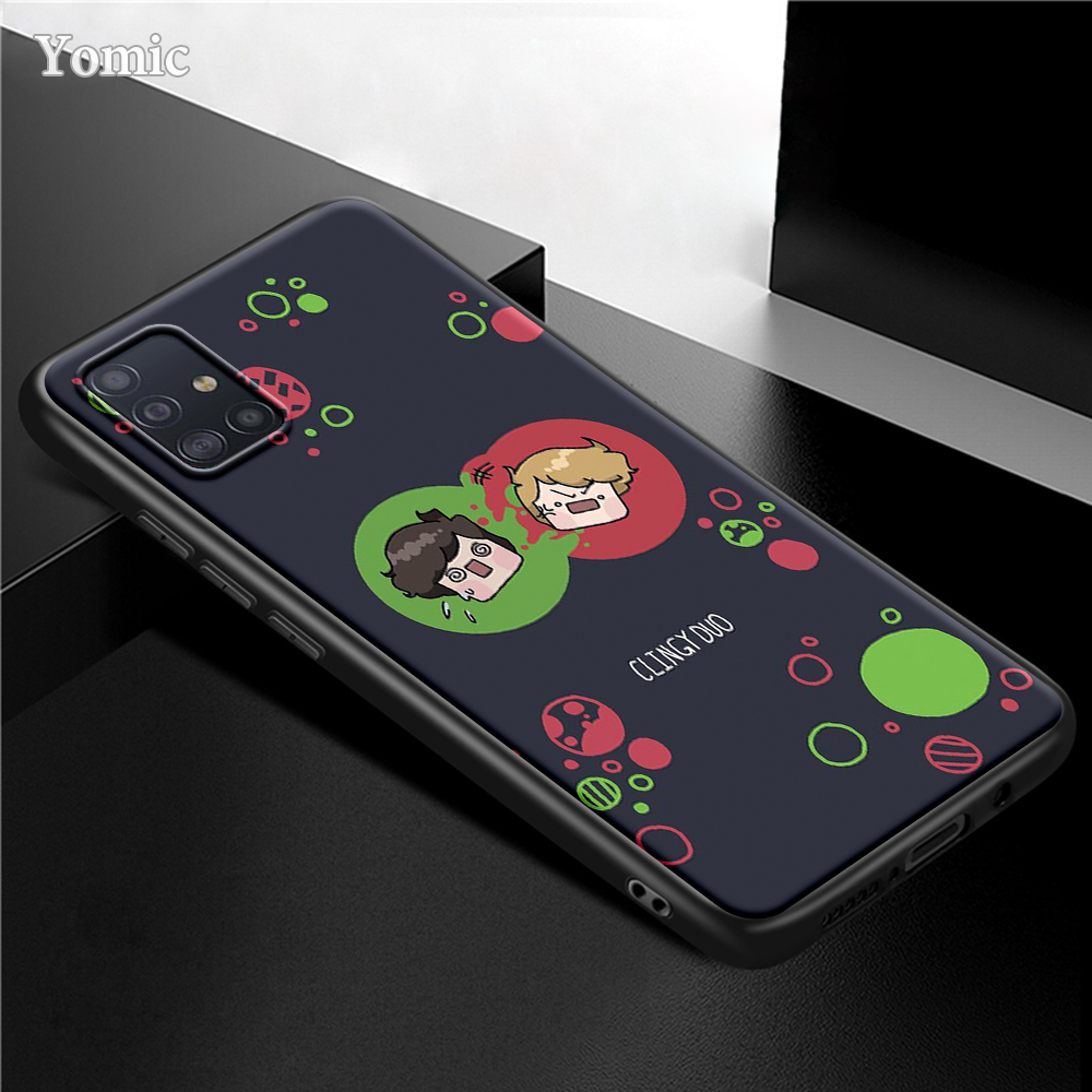 Dream Smp Case For Samsung Galaxy S21 Ultra 5G S20 FE S10 Plus A51 A71 A50 A21s Black Phone Cover A31 A10 A41 A20e A70 A30 Cute