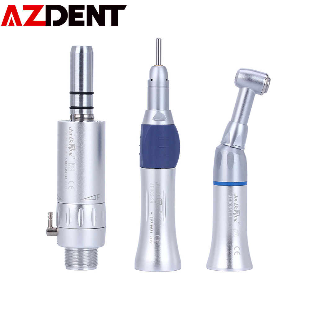 Azdent Dental Handpiece Inner Spray Channel Contra Angle  Electric Micromotor Polishing Brush Air Turbine  Low Speed Handpiece