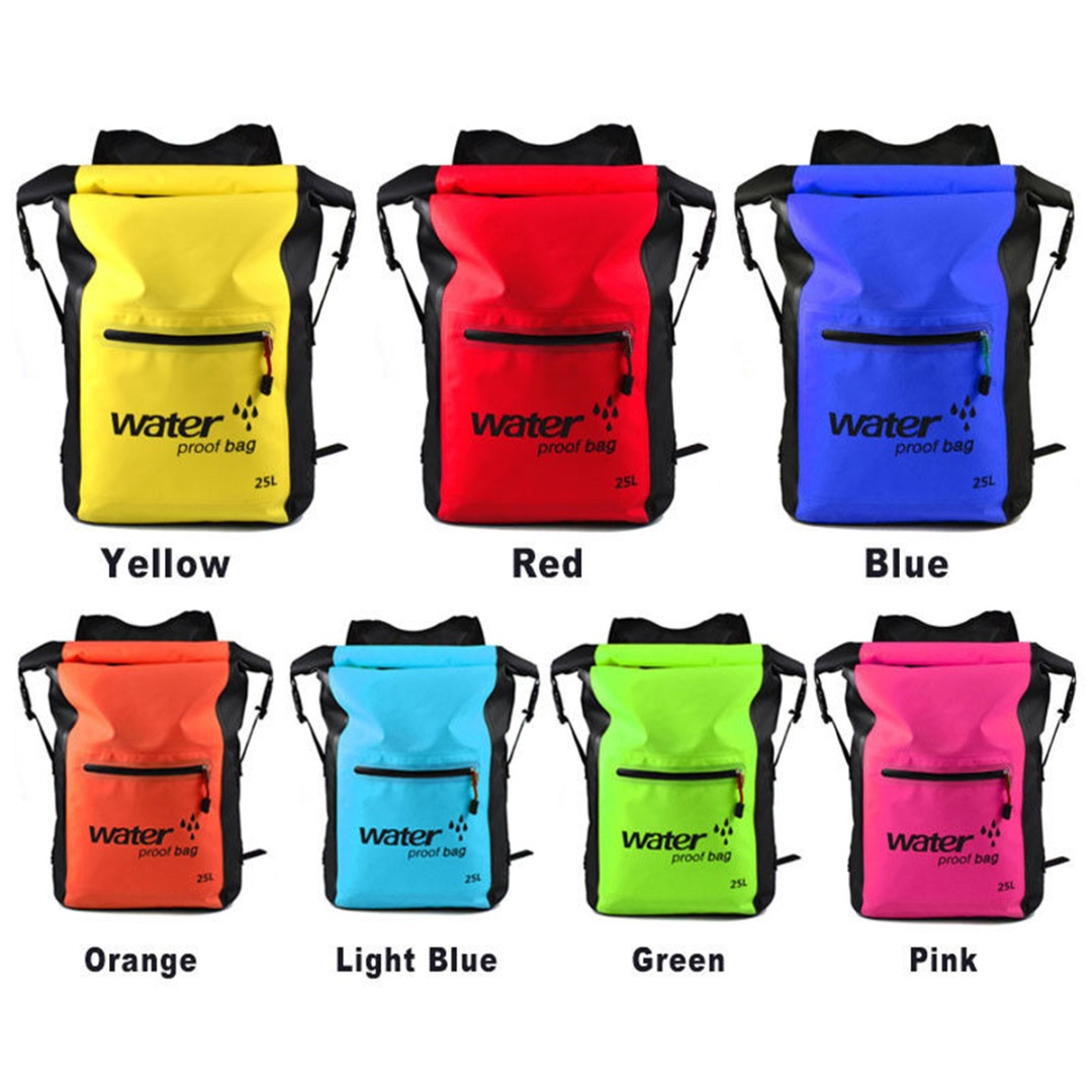 25L Waterproof Dry Backpack Sports Canoe Kayak Surfing Rucksack Storage Bag Men Women Swimming Fitness Beach Ocean Bag