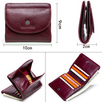 New Small Wallet Ladies Short Wallet Wallet Coin Coin Purse First Layer Leather Ladies Wallet Multi function Small Card Package