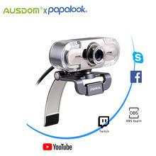 Веб камера papalook pa452 full hd 1080p usb с микрофоном