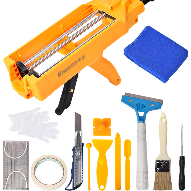 Double Tube Labor Saving Tile Beauty Sewing Tool Tile Beauty Grouting Construction Double Tube Glue Gun Hydraulic Gu