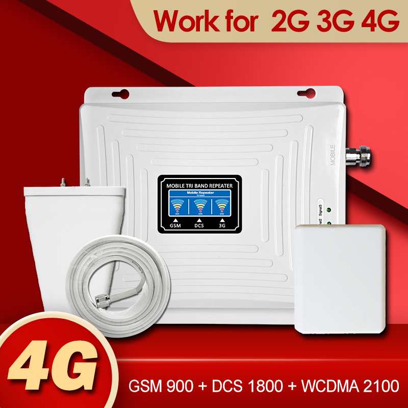 Signal Booster GSM Repeater 2G 3G 4G Amplifier Mobile Phone 900 DCS LTE 1800 WCDMA 2100