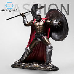 Strongwell Spartacus Warrior Figurines Sparta Statues Armor Miniatures Model Vintage Home Decor Living Room Desk Decoration Gift