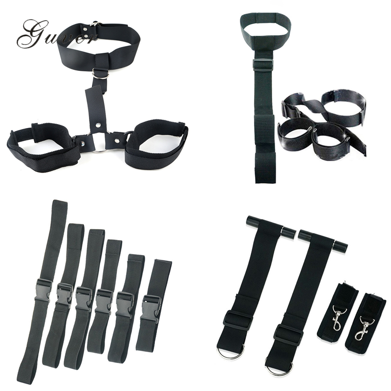 Cheap Novelty Exotic Bondage Restraints Men Women Chastity Lock Shackles On The Door Neck Handcuffs For Adult Games Sex Toys