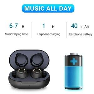Image 2 - True wireless bluetooth headset Bluetooth 5.0 headphones Waterproof Mini earbuds with Mic Stereo Touch Control Handfree earphone
