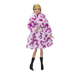 Image 2 - 15 typ wysokiej jakości moda odzież szyta ręcznie sukienki rośnie strój flanelowy płaszcz dla sukienka lalka Barbie dla dziewczyn najlepszy prezent