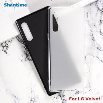 Перейти на Алиэкспресс и купить Для LG бархатный гелевый силиконовый защитный чехол для телефона для LG бархатный Мягкий ТПУ чехол