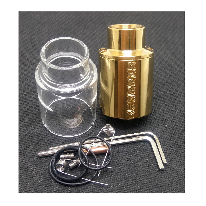 Clearance Kennedy Rda 24mm Gold Top Airflow Kennedy V5 Atomizer With Bottom Feeder Pin Electronic Cigarette