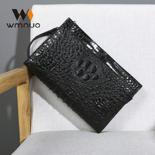 Wmnuo 2020 Clutches Bag Men Alligator Envelope Bag Hand Bag Cow Genuine Leather Wallet For Male Clutch Business Wristlets Hot