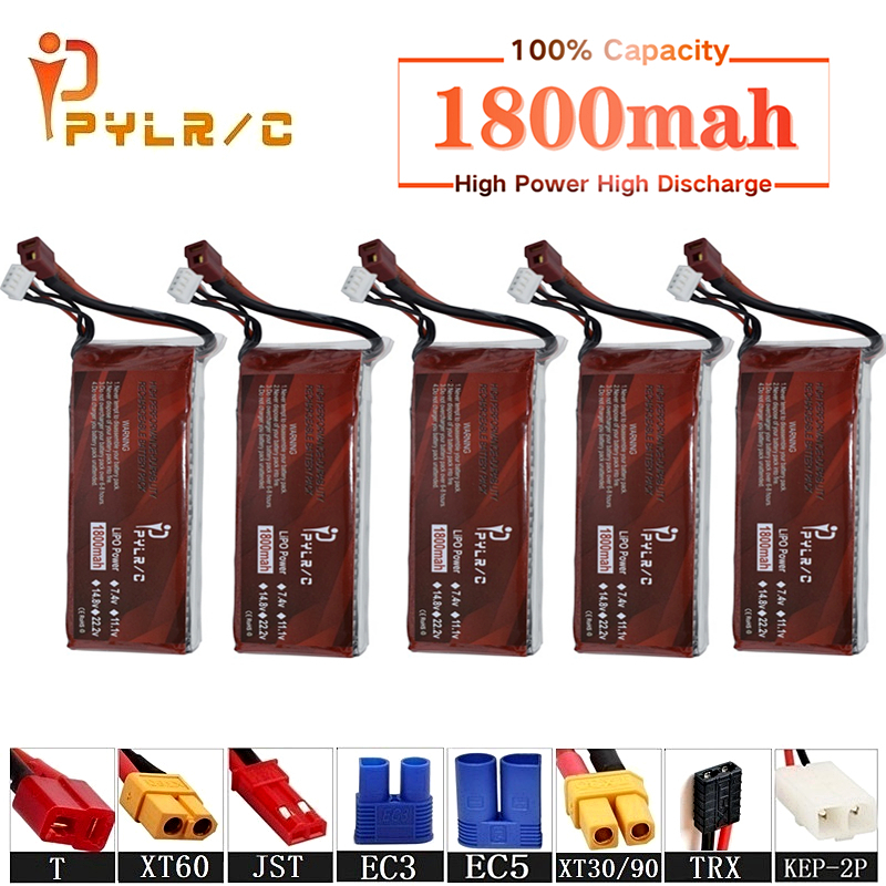 High Rate 11.1v 1800mAh Lipo Battery For RC Helicopter Parts 3s Lithium battery 11.1v 45C RC Cars Airplanes Drone Battery T/XT60 image