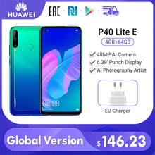 Huawei P40 Lite E Global Version 4GB 64GB Cellphone 48MP Water Drop Screen 6.39'' FHD Screen Kirin 710 Octa Core Smartphone