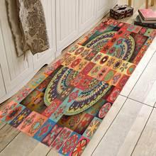 Богемный этнический Стильный дизайнерский коврик противоскользящий