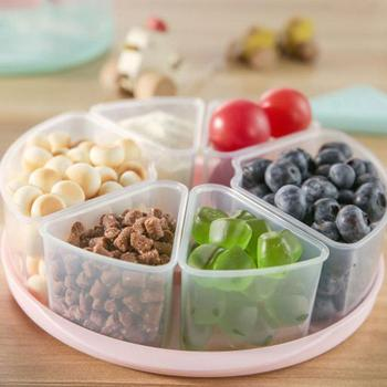 Round Square Shape Detachable Grid Candy Dried Fruit Nut Storage Box Snacks Tray Holder with Lid Home Food Snack Box Container quality macadamia nut hawaii nut queensland food in bulk weight 1000 g cream flavor nut snack crispy chinese food
