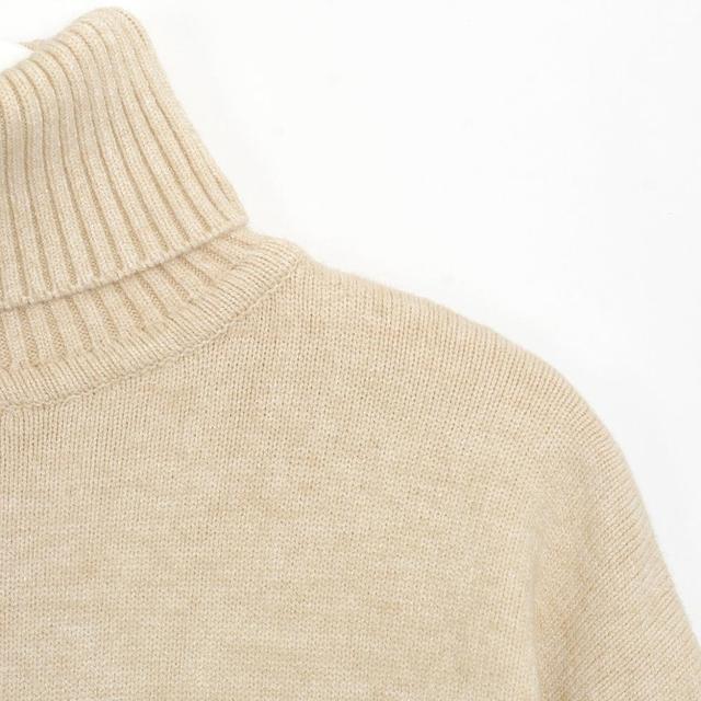 Wixra femmes pull costumes et ensembles col roulé à manches longues chandails tricotés + poches pantalons longs 2 pièces ensembles Costume d'hiver 5
