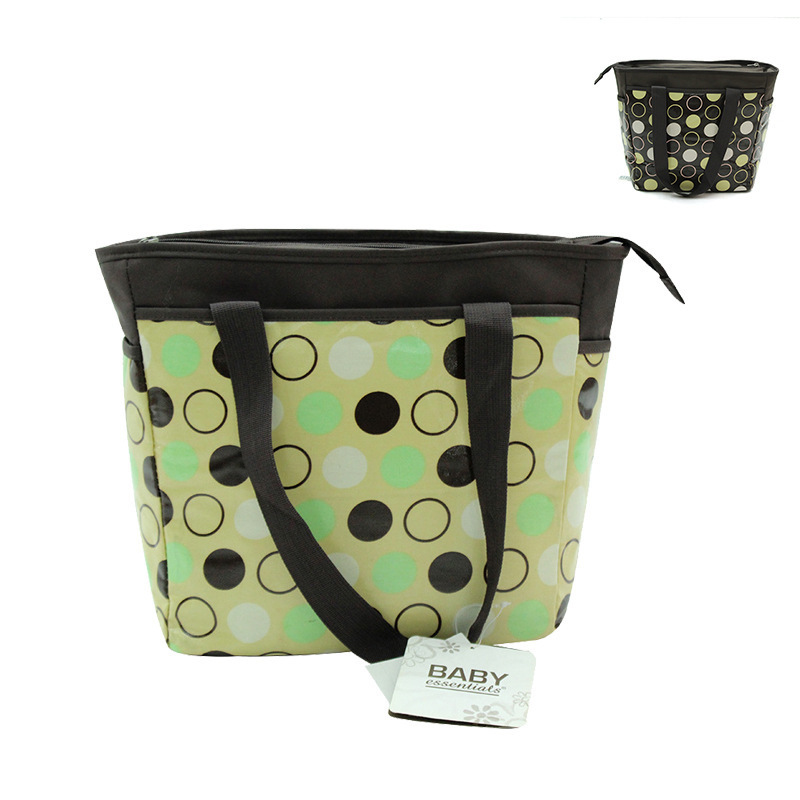 [Special Offer Processing] Fashion Korean-style Top Grade Waterproof Dotted Print Large-Volume Hand Multi-functional Mummy Bag
