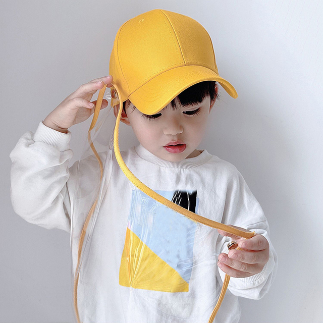 Multifunctional children's baseball Anti-saliva Dustproof Face Cover Mask Baseball Cap Children Kids Protective Hat sun hat 1