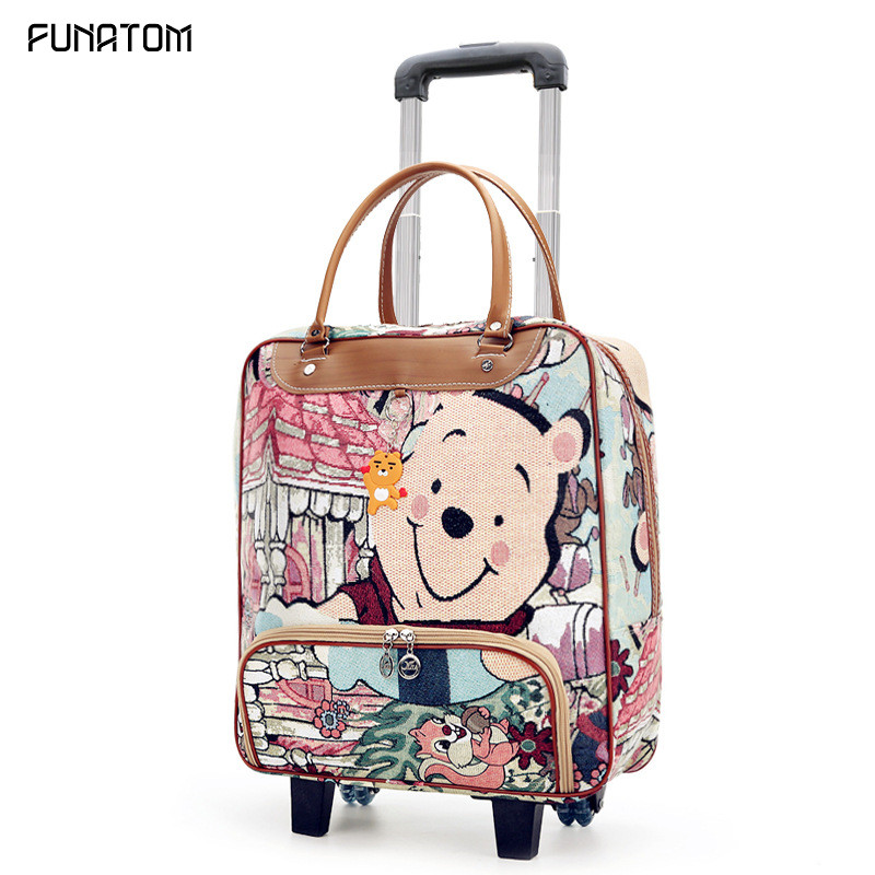 22 Inch Women Trolley Luggage Rolling Suitcase Casual Stripes Rolling Case Travel Bag On Wheels Luggage Suitcase With Wheels