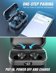Image 2 - TAGRY Bluetooth TWS Tai Nghe Nhét Tai Màn Hình Hiển Thị Led 30H Giờ Chơi Hai Tai Gọi Đúng Tai Nghe Nhét Tai Không Dây Kim Loại Charing Ốp Lưng Có Mic