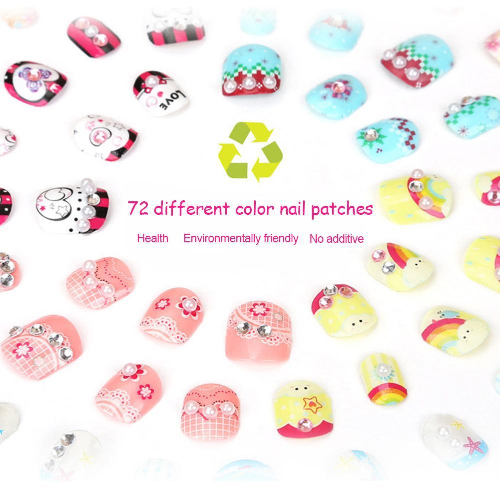 Girls Nail Stickers Makeup Toys Children's Jewelry Kindergarten Handmade DIY Making Girl Birthday Gift Nail Studio Art Manicure