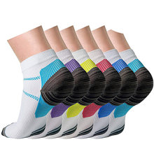 1 пара Высокое качество сжатия ног носки для подошвенный фасциит