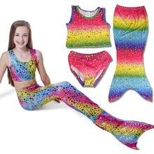 Купальный костюм русалки для девочек из 3 предметов купальный
