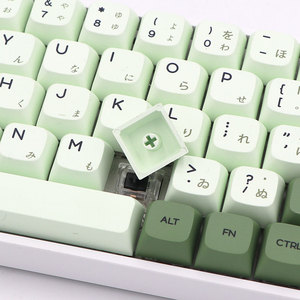 Image 2 - Keypro Matcha Green Ethermal Dye Sublimation fonts PBT keycap For Wired USB mechanical keyboard 124 keycaps