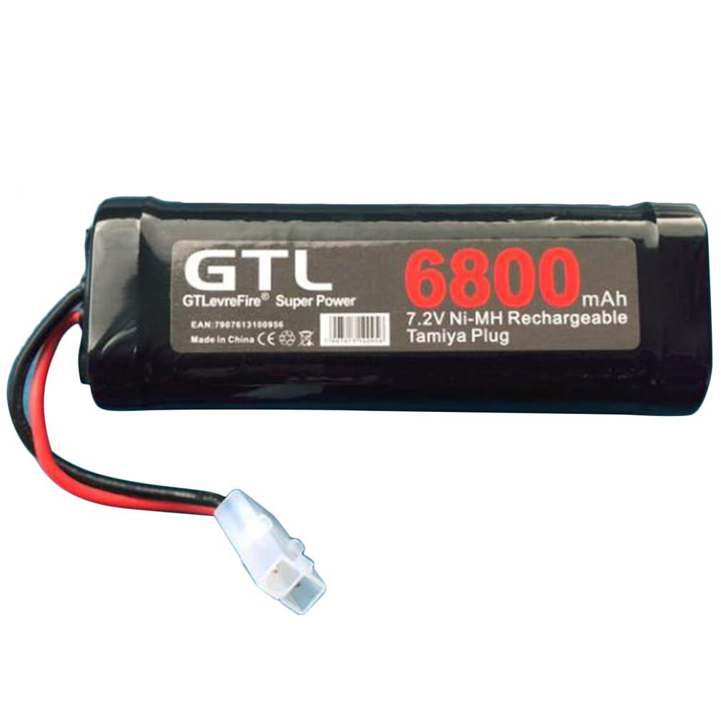 6800mAh 7.2V NiMh RC Toy Battery Rechargeable Flat Racing Car Replacement Battery For RC Airplane Helicopter Boat