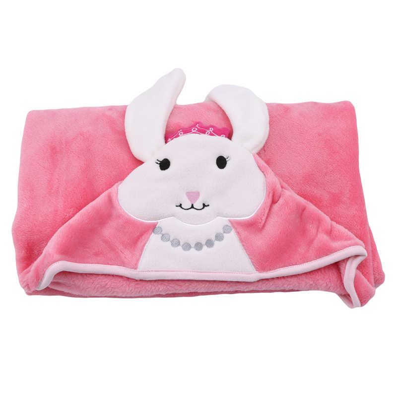 Nowy peleryna z kapturem chłopiec dziewczyna flanela koc z dobrej jakości 85*90CM piękny gorący zwierząt koc dziecko Cute kreskówki dla dzieci ręcznik kąpielowy