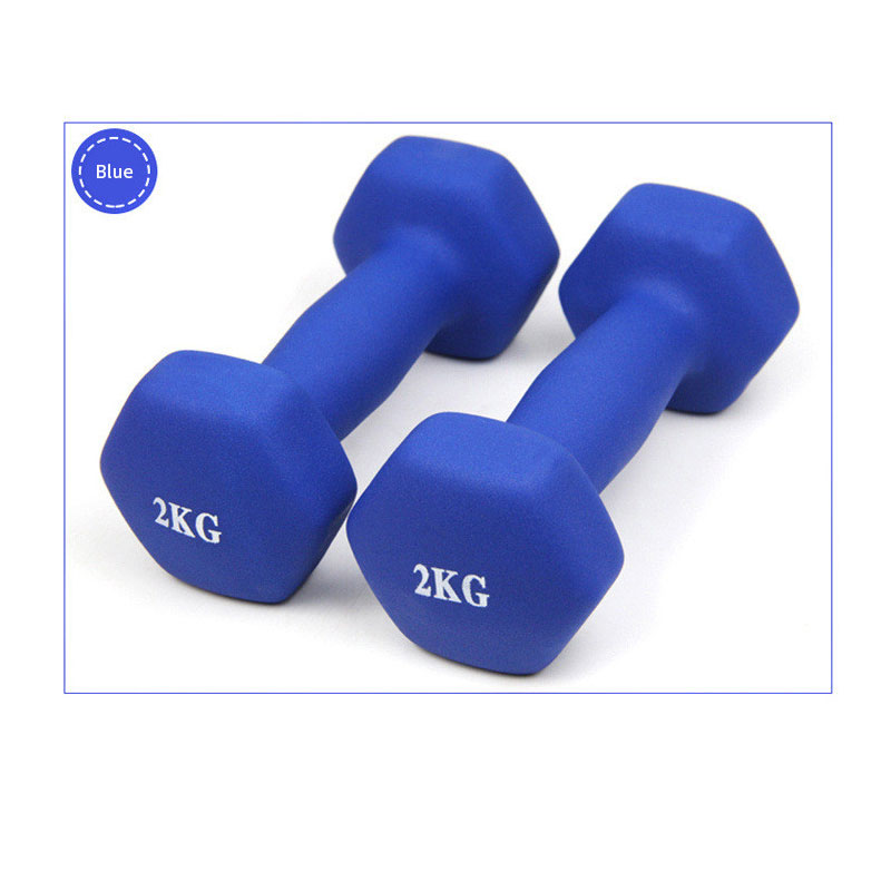 4 Color 2kg *1pcMatte Dumbbells Fitness Portable Girl Woman Children Home Exercise Dumbbells Rack Stands  Get  Free Medical Mask