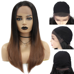 Image 5 - Long Straight Synthetic Lace Front Wigs For Black Women X TRESS Medium Brown Color Heat Resistant Fiber Hair Wig With Baby Hair