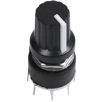 WSFS Hot 1 pcs black plastic band switch SR16 switch 1 knife 5 stalls rotary switch 3.2*1.6*1.6cm image